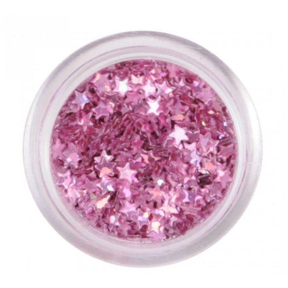 Nail Art Sterne in metallic Rosa