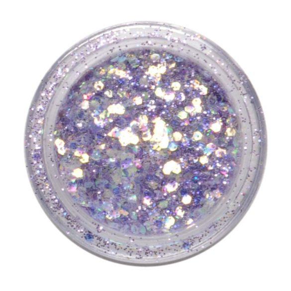 Pailletten & Glitter Mix in Dunkellila