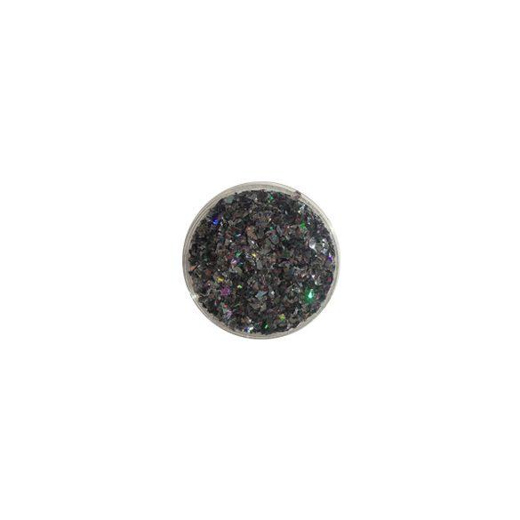 Glitter Flakes in metallic Schwarz