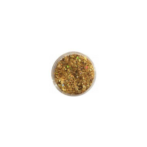 Glitter Flakes in metallic Gold