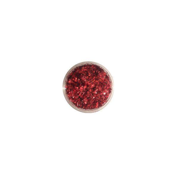 Glitter Flakes in metallic Rot