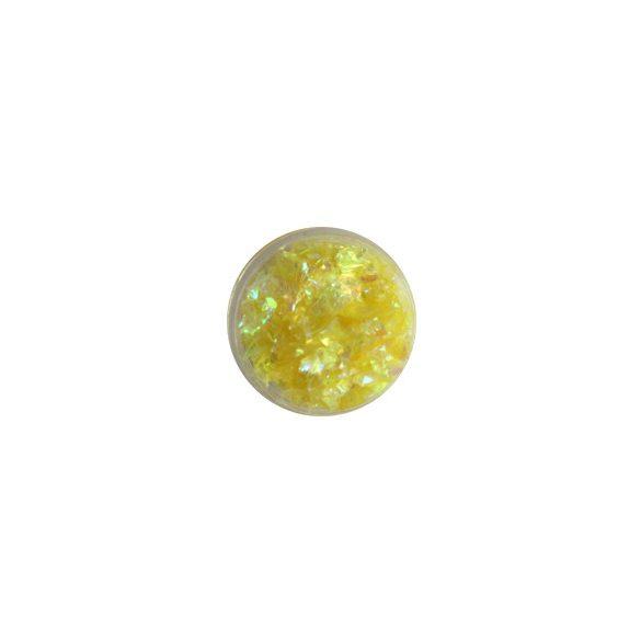 Glitter Flakes in Zitronengelb