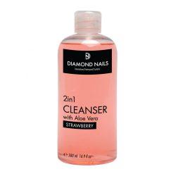 2in1 UV Gel Cleanser 500ml mit Aloe Vera Extrakt - Erdbeere