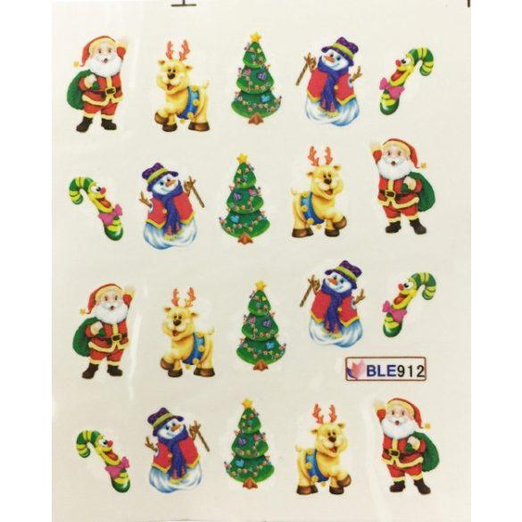 Nagelsticker in Weihnachtsschmuck  BLE-912