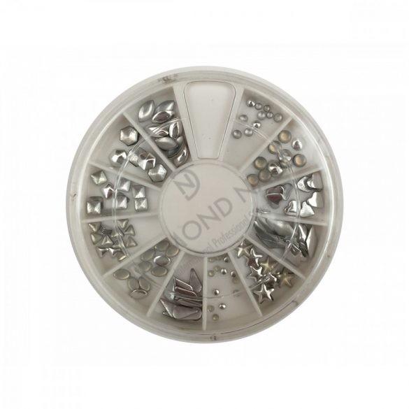 Nieten Display Deko 120Stk. Silber