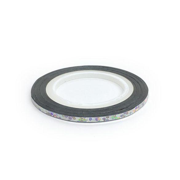 Dekorations Streifen - Silber Hologram