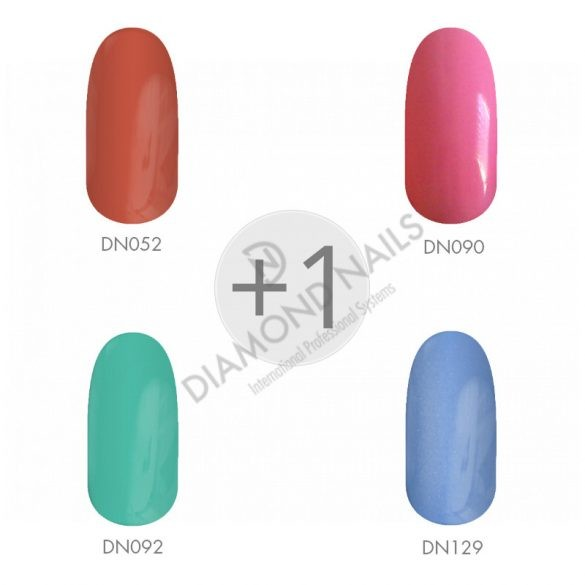 Gel Polish - Frühlingsfarben I. 4+1 Packung