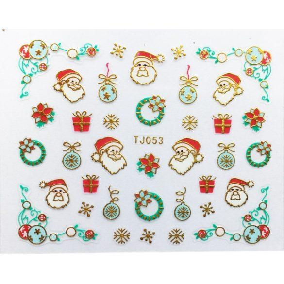 Nagelsticker in Weihnachtsschmuck  TJ-053