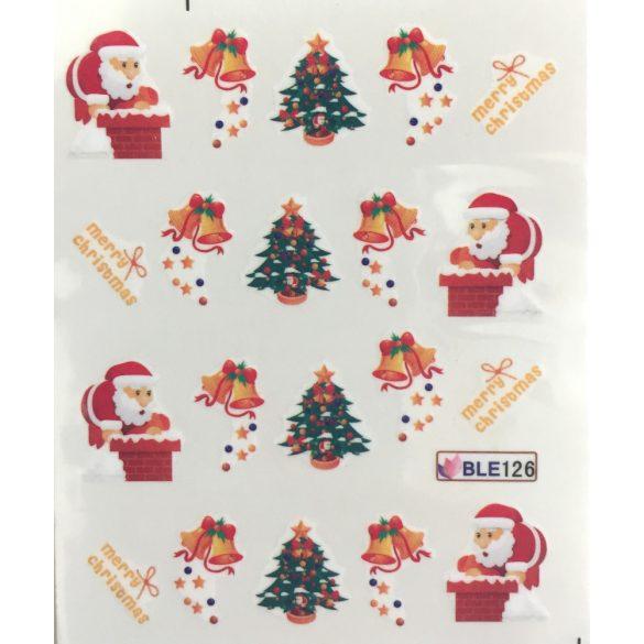 Nagelsticker in Weihnachtsschmuck  BLE-126