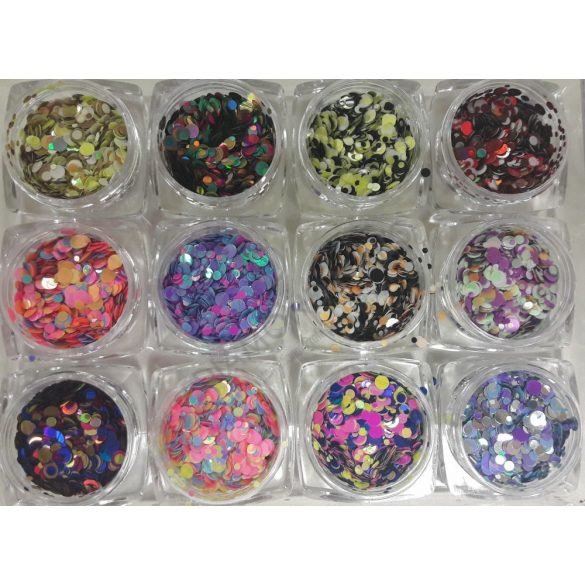 12 Stk. Rainbow konfetti #2