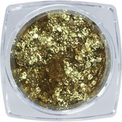 Metall Flitter Deko - Gold