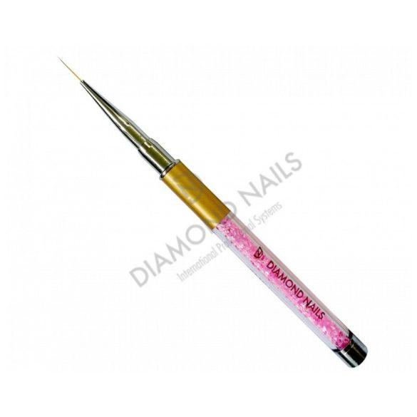 Nail Art Pinsel in Pink mit Strassstein #3