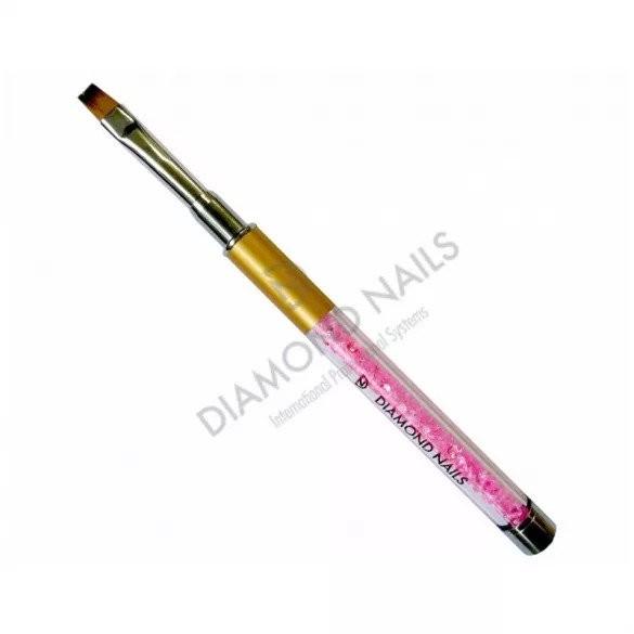 Gel Pinsel in Pink mit Strassstein  Gr.6