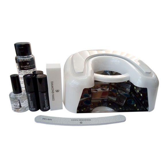 Premium Gellack Starter Set mit Extreme 36W UV LED (SN498) - White Lampe
