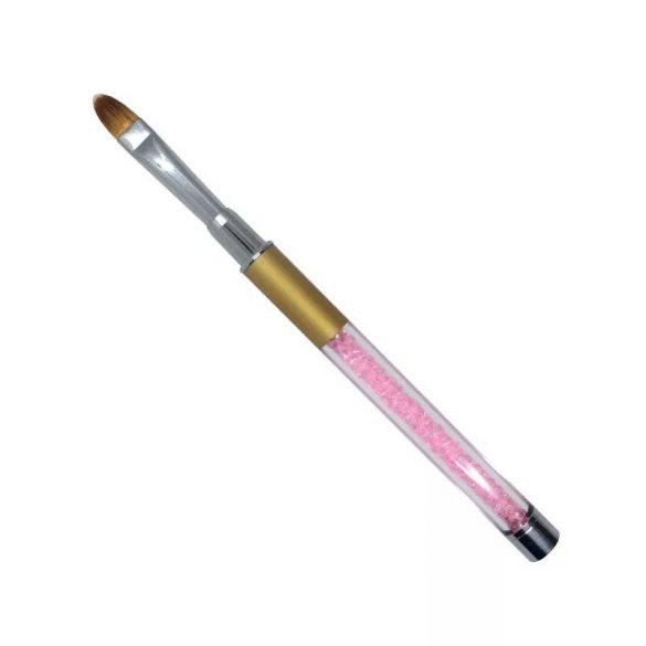 Gel Pinsel in Pink mit Kristall Gr.4