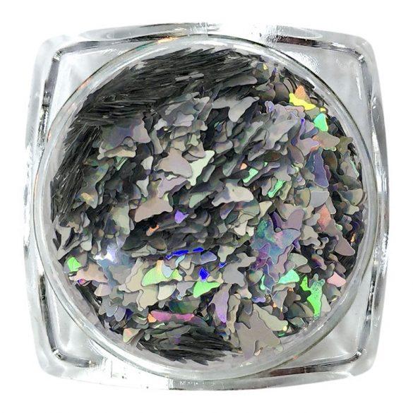 Hologramm Schmetterling - Silber