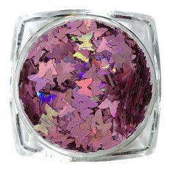 Hologramm Schmetterling - Rosa