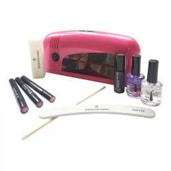 Gellack Pen Starter Set 9W UV Lampe (Pink) 3Stk. Gellack Pen