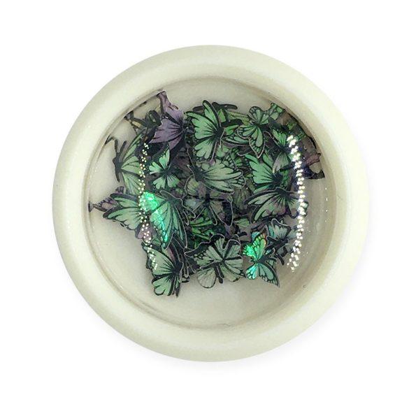 Nageldekoration - Farbige, Hologramm Schmetterlinge (002)