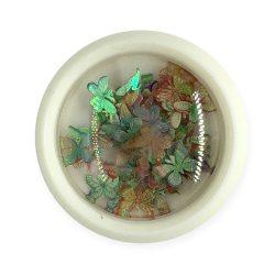 Nageldekoration - Farbige,Hologramm Schmetterlinge (003)
