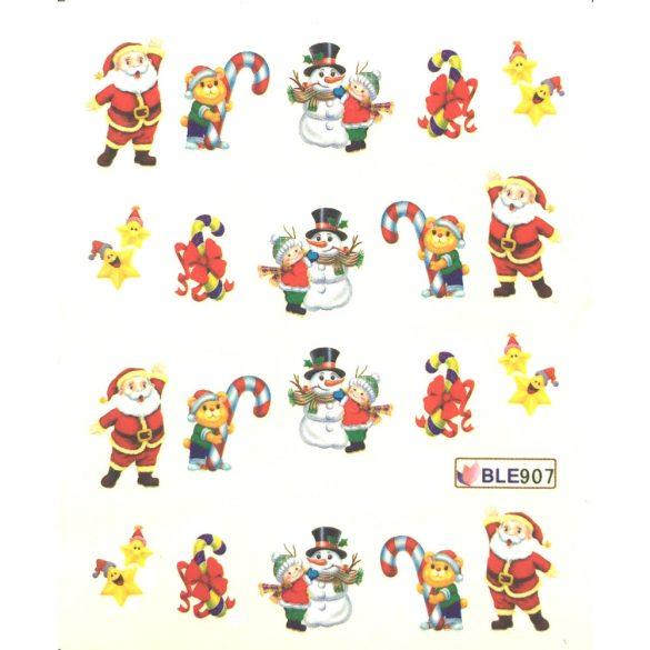 Nagelsticker in Weihnachtsschmuck  BLE-907