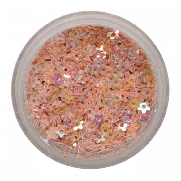 Nail Art Hologramm Blüten in Beige